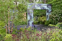 Copper arch - RHS Chelsea flower show 2014 - The Brewin Dolphin Garden, awarded silver gilt