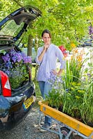 A car boot not large enough to carry purchased plants from a garden centre