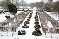 Highgrove Garden in snow, January 2013