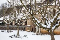 The Orchard Rooms covered in snow, Highgrove, January 2013