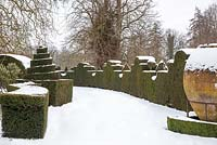 Highgrove Garden in snow, 21 January 2013