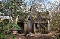The Gothic Chicken House and pen, Highgrove, April 2013