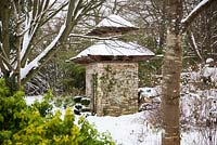 The Indian Gate covered in snow, Highgrove Garden, January 2013
