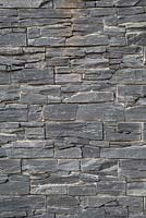Detail of dry stone slate wall