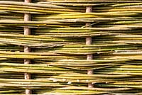 Detail of a woven willow hurdle.