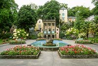 View of Portmeirion village. Central Plaza