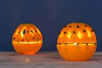 Orange Lantern. Colourful scented Orange lanterns crafted with minimal materials
