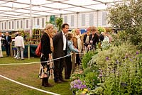 Monty Don in the pavilion, RHS Chelsea Flower Show 2006