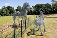 Horse sculptures by Paul Gilbert, blacksmith and sculptor