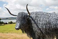 Highland bull sculpture by Paul Gilbert, blacksmith and sculptor