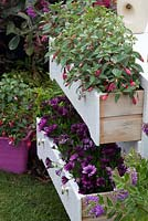 Chest of drawers planter in the Recycled and reused garden BBC Gardeners World Live 2015