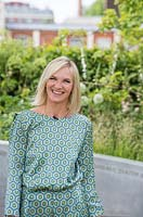 Jo Whiley from BBC Radio 2 at the RHS Chelsea Flower Show 2017