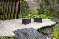 The Royal Bank of Canada Garden at the RHS Chelsea Flower Show 2017. Sponsor: Royal Bank of Canada. Designer: Charlotte Harris. Awarded a Gold Medal.