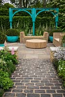 The 500 years of Covent Garden: The Sir Simon Milton Foundation Garden in partnership with Capco garden at the RHS Chelsea Flower Show 2017. Sponsor: