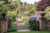 A view of the entrance of the Autumn Garden at Newby Hall and Gardens, Yorkshire.