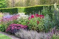 Late summer herbaceous border at Newby Hall and Gardens, Yorkshire.