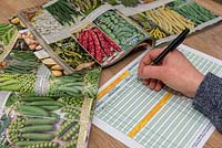 Ordering vegetable seeds in a catalog