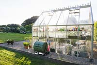View of traditional greenhouse.