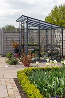 Greenhouse in Spring garden