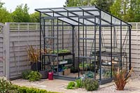 Greenhouse in suburban garden