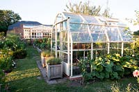 Greenhouse in kitchen garden