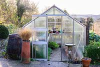 Greenhouse beside the kitchen garden.