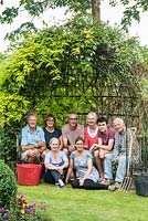 A team effort. Adam and Heidi Vetere, their son Luke, and respective parents with partners, who all helped create this lovely garden.