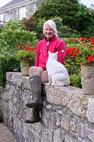 Christine Taylor, owner of Ednovean Farm, Cornwall, UK