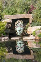 Contemporary sculpture by Simon Gudgeon, in Pool Garden designed by Peter Dowle.
