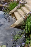 Diana's Bath with 16th century parapet walls with steps into the water overgrown