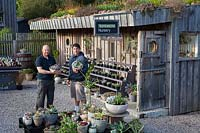 Daniel Michael and Mark Lea, owners of Surreal Succulents, Tremenheere Nursery, Cornwall, UK.