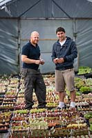 Daniel Michael and Mark Lea, owners of Surreal Succulents, Tremenheere Nursery, Cornwall.