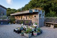 The Cabin at Surreal Succulents, Tremenheere Nursery, Cornwall, UK.