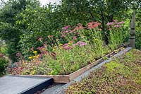 Living green roof and solar panels on Eco-house.