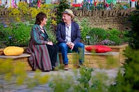 Part of the Health and Wellbeing permanent garden, Jekka McVicar and 