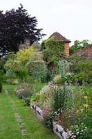 Mixed summer borders at Stone House Cottage Garden, July