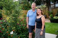 David and Julie, owners of garden designed by Nick Gough and Douglas Vieira.
