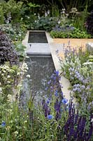 'The Wedgwood Garden' at RHS Chatsworth Flower Show, marking Wedgwood's 260th Anniversary - inspired by the vision of John Wedgwood, the founder of the RHS to create a 'homely and loveable space'.