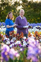 Christine and David Howard at Howard Nurseries Tall bearded Iris fields in May.