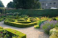 Parterre with Buxus - Box - and gravel paths
