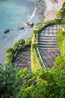 Staircase with typical 'risseau'. Villa Agnelli Levanto, Italy.