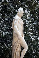 Snow covered sculpture
