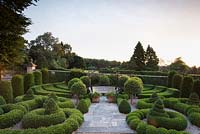 The Parterre at Bourton House at dawn