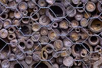 Bee Hotel with evidence of occupation