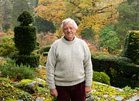 Peter Hughes QC, chairman of the Gardens Trust in his garden at High Moss, Cumbria