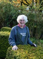 Diane Hewitt - owner and designer in her garden at Windy Hall