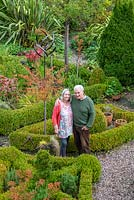Tim and Bridget Wiltshire, garden owners, Brockworth, Gloucestershire.