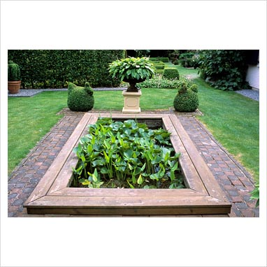 Gap Photos Garden Plant Picture Library Rectangular Pond In Formal Garden With Topiary