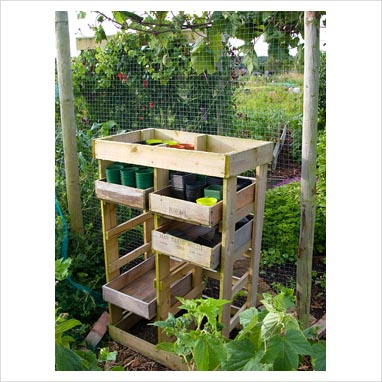 Gap photos garden plant picture library wooden wine for Wooden wine box garden