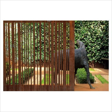 gap photos garden plant picture library corten steel